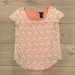 3/$30 Talula Betsy - Lace Overlay Top
